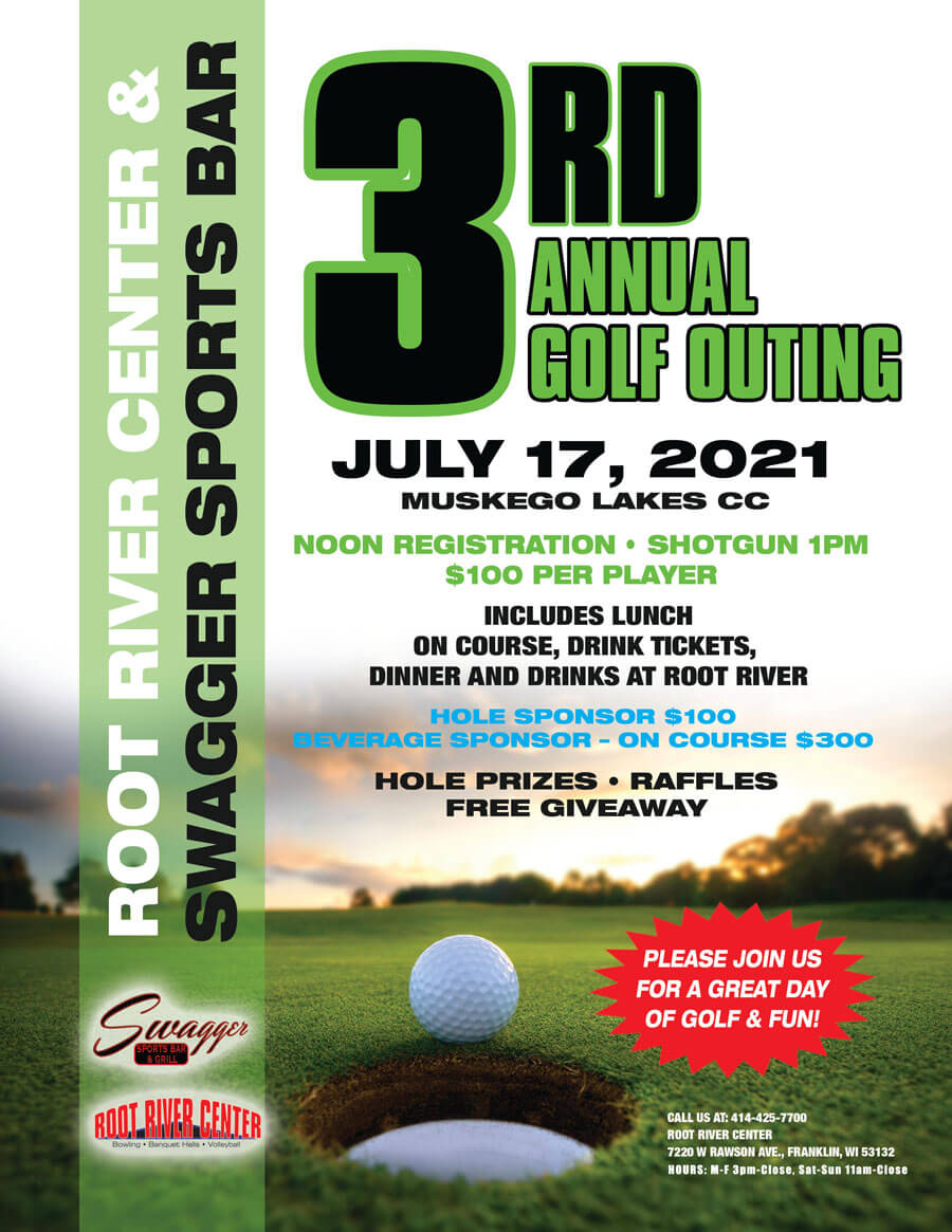Root River Center and Swagger Sports Bar 2021 Golf Outing